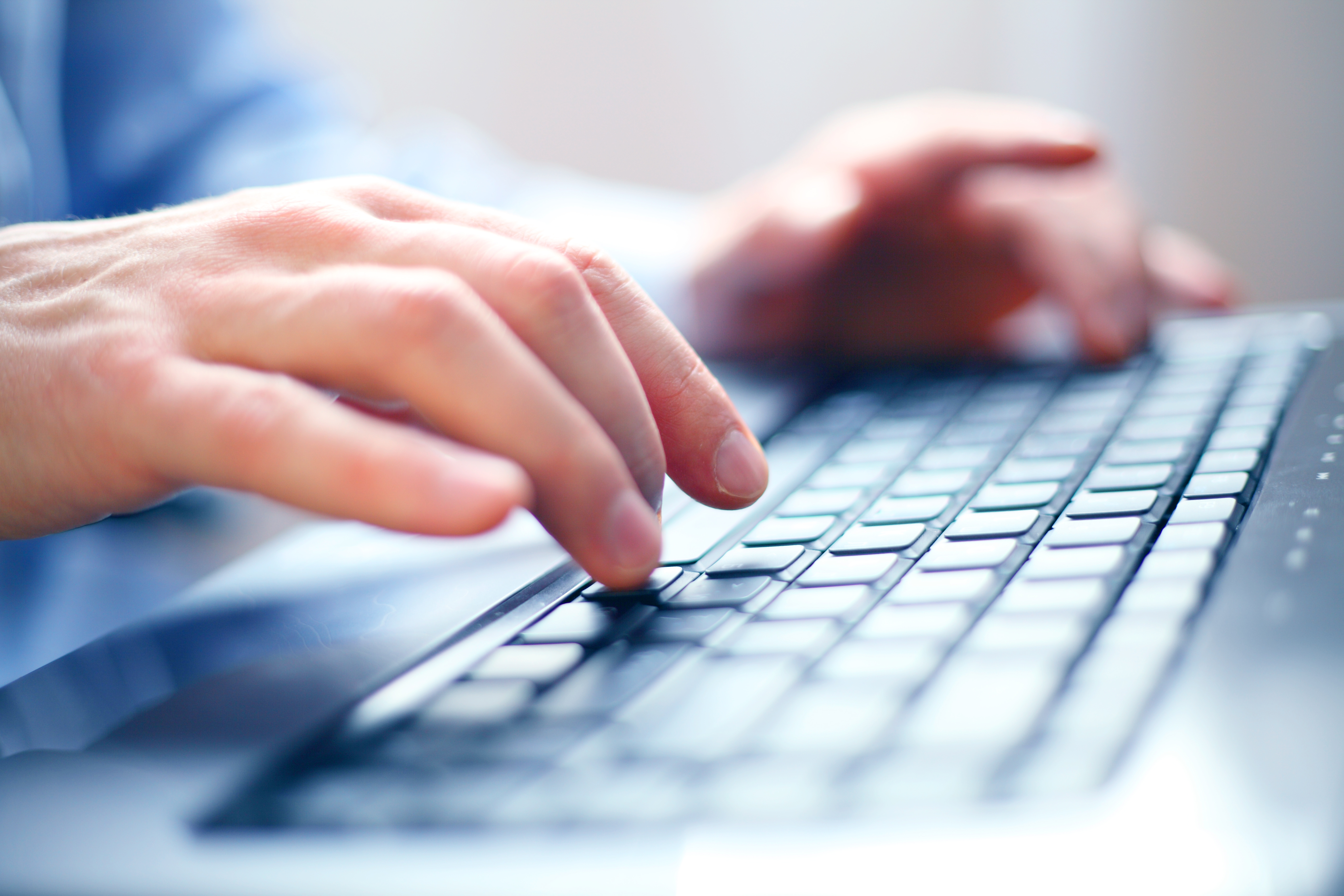 Office IT Support in Essex - Hands using keyboard