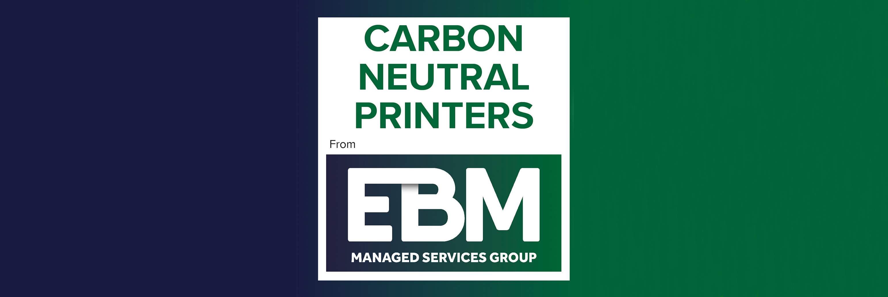 Carbon Neutral Printing with EBM