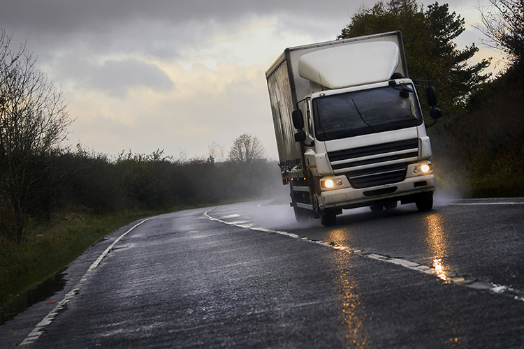 Freight - Truck Driving On UK Road