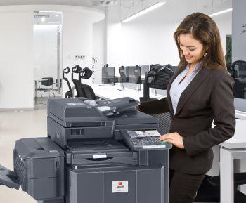 Woman at Printer