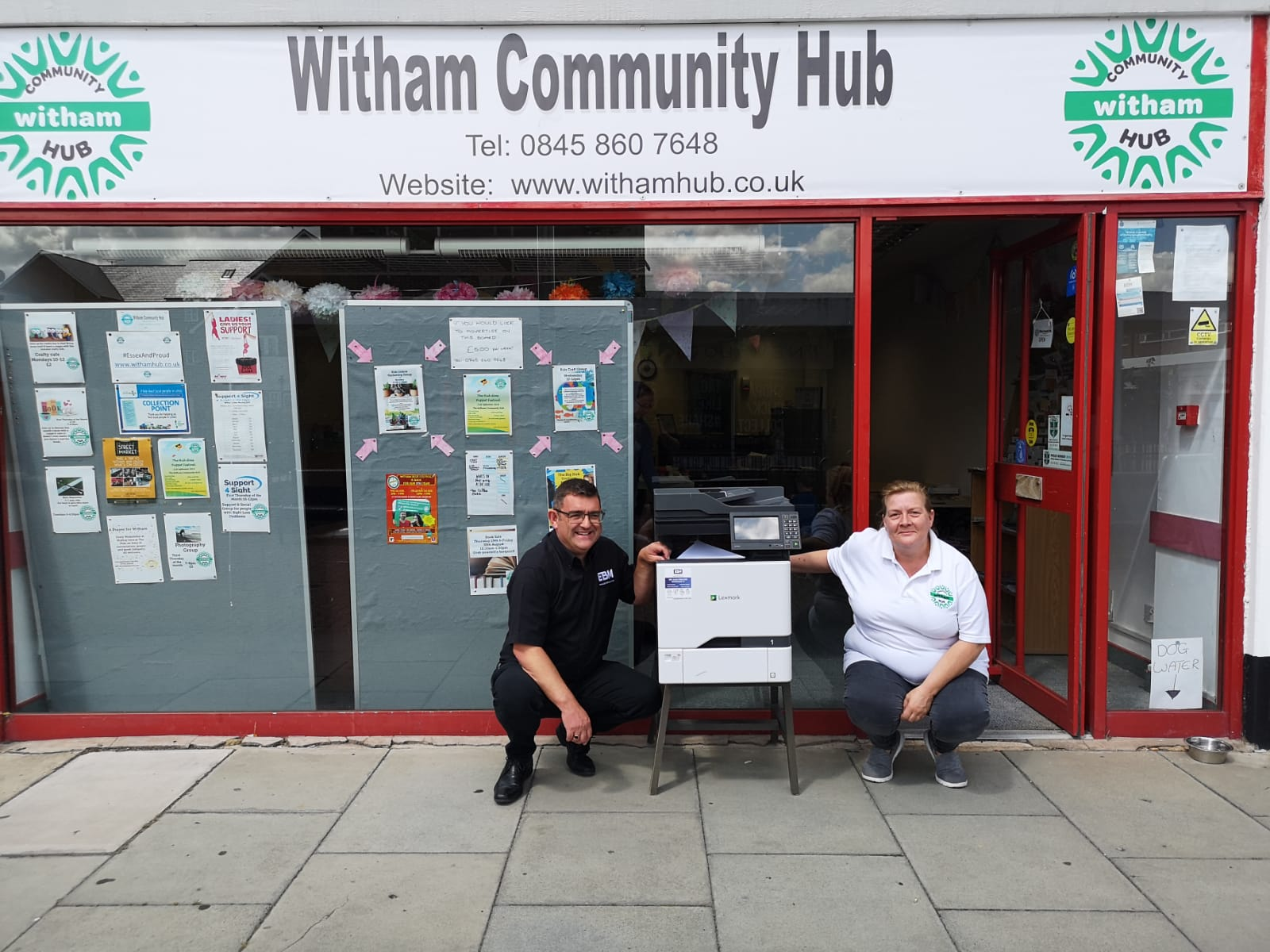 EBM Deliver Printer to Witham Community Hub
